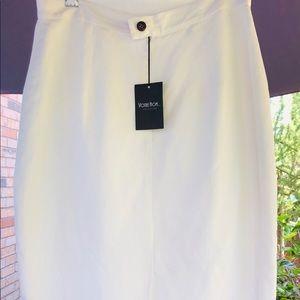 Votre Nom PARIS white skirt linen and viscose 💋